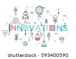 innovations  innovative ideas ... | Shutterstock .eps vector #593400590