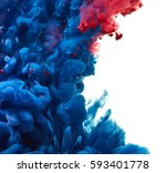 ink drop in water isolated on... | Shutterstock . vector #593401778