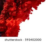 Splash Of Red Paint Isolated O...
