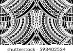 samoa style ornament. good for... | Shutterstock .eps vector #593402534