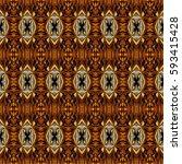abstract decorative multicolor... | Shutterstock . vector #593415428