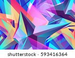 colorful background   geometric ... | Shutterstock .eps vector #593416364