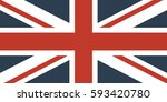 flag of great britain | Shutterstock .eps vector #593420780