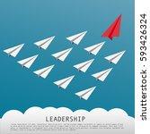 business leadership concept... | Shutterstock .eps vector #593426324