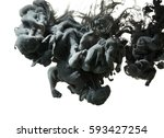 ink drop in water isolated on... | Shutterstock . vector #593427254