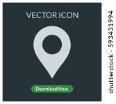location pin vector icon | Shutterstock .eps vector #593431994