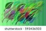 leaf template vector | Shutterstock .eps vector #593436503