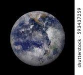 abstract world globe vector...   Shutterstock .eps vector #593437259
