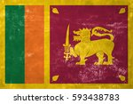 sri lanka   sri lankan flag on... | Shutterstock . vector #593438783