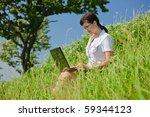 beautiful young girl in a... | Shutterstock . vector #59344123
