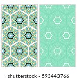 set of lace seamless pattern....   Shutterstock .eps vector #593443766