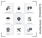 expert advice icon set | Shutterstock .eps vector #593449073