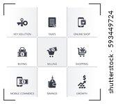 financial services icon set | Shutterstock .eps vector #593449724