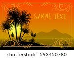 exotic landscape  tropical... | Shutterstock .eps vector #593450780