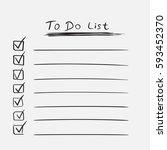 to do list icon with hand drawn ... | Shutterstock .eps vector #593452370