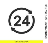 24 hours vector icon | Shutterstock .eps vector #593452718