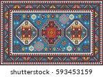 Colorful Mosaic Oriental Kazak...