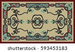 colorful traditional art mosaic ...   Shutterstock .eps vector #593453183