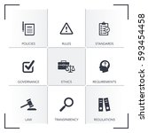 compliance icon set | Shutterstock .eps vector #593454458
