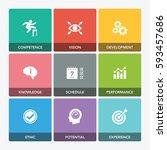business practice icon set   Shutterstock .eps vector #593457686