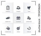 business plan icon set | Shutterstock .eps vector #593458604