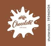 chocolate hand written... | Shutterstock .eps vector #593460434