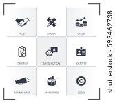 brand icon set | Shutterstock .eps vector #593462738
