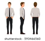 vector illustration of three... | Shutterstock .eps vector #593466560