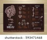 vintage coffee menu design | Shutterstock .eps vector #593471468