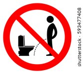 do not pee outside of the... | Shutterstock .eps vector #593477408
