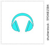 headphone outline vector icon...