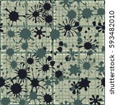 seamless pattern. colored blots.... | Shutterstock .eps vector #593482010