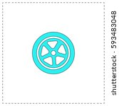 wheel outline vector icon with...