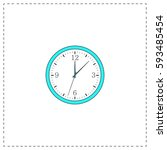 time outline vector icon with...