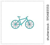 bike outline vector icon with...