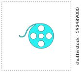 film reel outline vector icon...