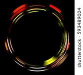 light ring isolated on black... | Shutterstock . vector #593489024