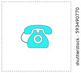 old telephone outline vector...