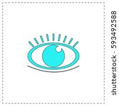 eye outline vector icon with...