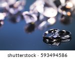luxury background with diamond. ... | Shutterstock . vector #593494586