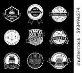 set of vintage different... | Shutterstock .eps vector #593496374