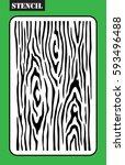 stencil. woodgrain template.... | Shutterstock .eps vector #593496488