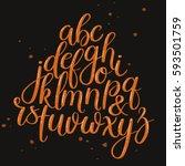 handwritten brush style letters.... | Shutterstock .eps vector #593501759