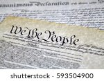 close up of we the people of...   Shutterstock . vector #593504900
