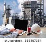 engineering industry concept in ... | Shutterstock . vector #593507384
