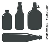 craft beer bottles vintage...   Shutterstock .eps vector #593510384