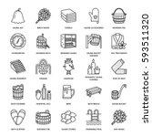 sauna  steam bath line icons.... | Shutterstock .eps vector #593511320