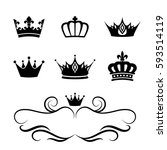 Collection Of Crown Silhouette...