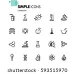 simple set of chemical related... | Shutterstock .eps vector #593515970
