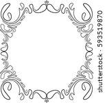 vintage black frame with empty... | Shutterstock .eps vector #593519870
